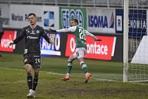 Fotbalisté Jablonce i v deseti porazili Sigmu 3:1.