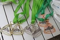 Netradiční medaile Jabloneckého trojúhelníku