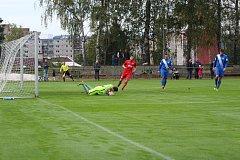 Divize C: Jiskra Mšeno A - Spartak Chrastava 0:3 (0:1). Mšeno - červené dresy