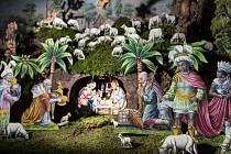 Autorem betlému rodiny Hlubučkových je železnobrodský rodák Jan Šilhán, blahé paměti znaný také jako Honzíček svatý