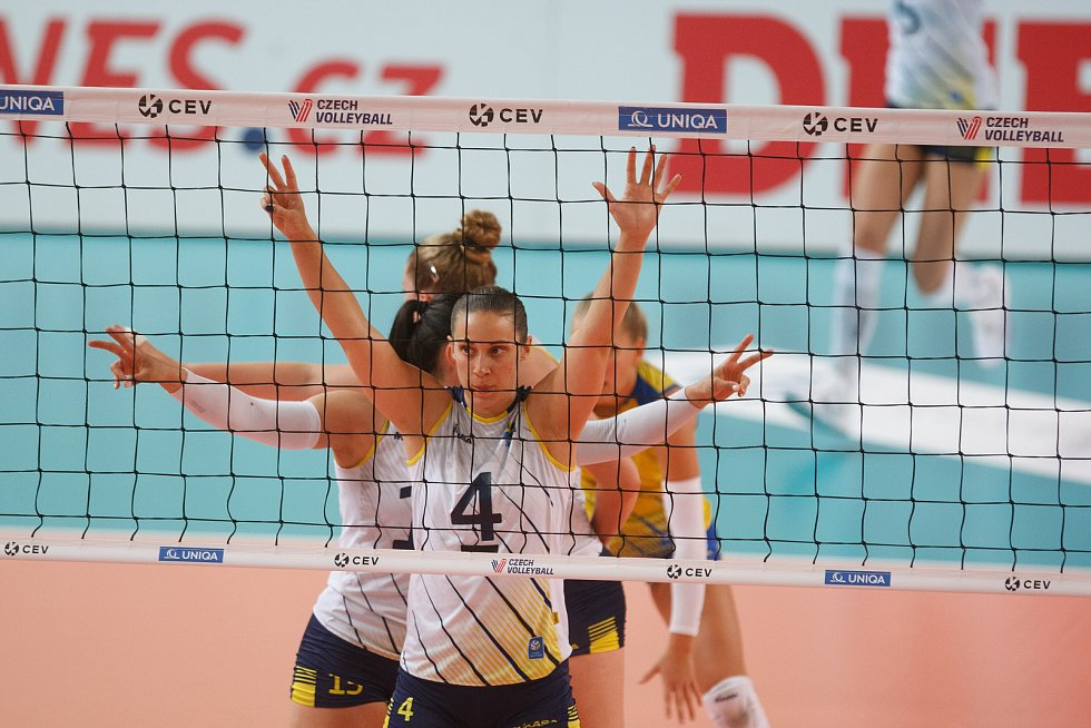 Volejbalový zápas žen v soutěži Golden European League : CZE - SWE