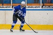 Utkání 20. kola 2. ligy ledního hokeje skupiny Západ se odehrálo 22. listopadu na zimním stadionu v Jablonci nad Nisou. Utkaly se týmy HC Vlci Jablonec nad Nisou a HC Draci Bílina. Na snímku je Jakub Mulač.