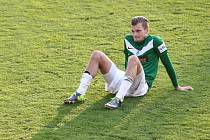 Baumit Jablonec doma padl s Duklou 1:4. Na snímku je zklamaný Vít Beneš z Jablonce.