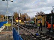 Železniční přechod na Smržovce.