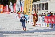 Závod v klasickém lyžování, Volkswagen Bedřichovská 30, odstartoval 16. února v Bedřichově na Jablonecku Jizerskou padesátku. Hlavní závod zařazený do seriálu dálkových běhů Ski Classics se pojede 18. února 2018. Na snímku je Jana Jetmarová.