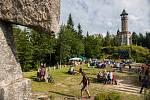 Štěpánův jarmark proběhl 19. srpna v rámci tradičních oslav u rozhledny Štěpánka v Kořenově na Jablonecku.