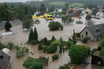Povodeň v Bílém Kostele kulminuje.