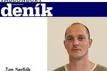 Redaktor Jabloneckého deníku Jan Sedlák