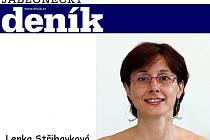 Šéfredaktorka Jabloneckého deníku Lenka Střihavková