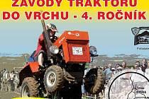 Závody traktorů do vrchu ve Vyskeři.