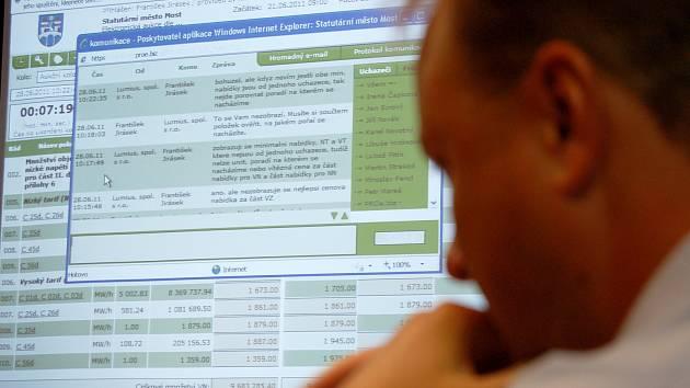 Elektronická aukce. Ilustrační snímek