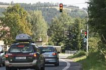 Chytrý semafor v Plavech.