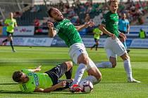 Zápas 4. kola první fotbalové ligy mezi týmy FK Jablonec a MFK Karviná se odehrál 11. srpna na stadionu Střelnice v Jablonci nad Nisou. Na snímku je Martin Doležal (15).