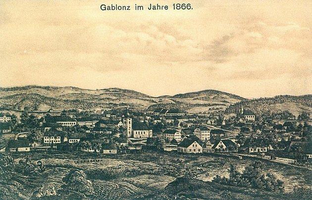 Okolí Jablonce v roce 1866