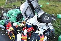 Nehoda kamiónu Pěnčín 26. října.