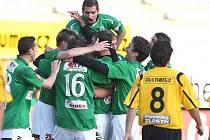 Fotbalisté Jablonce porazili Bohemians Praha 2:1 díky gólu Lafaty.