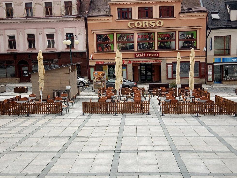 Zahrádky restaurací v Jablonci. Ilustrační foto.