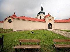 Památka UNESCO. Poutní kostel sv. Jana Nepomuckého na Zelené hoře u Žďáru nad Sázavou.