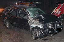 Ve Velkých Hamrech havaroval řidič, kterému pro podnapilost policisté zakázali další jízdu.