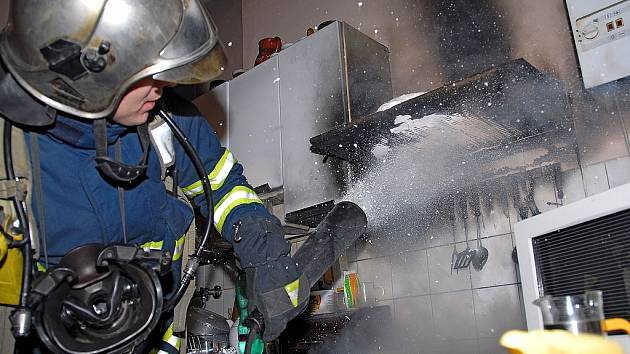 Požár bytu. Ilustrační snímek.