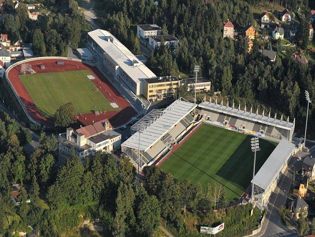 Stadion Střelnice v Jablonci nad Nisou.