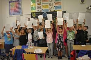 Třeťáci z jedné ze základních škol v Železném Brodě.