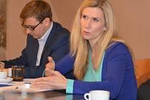 Ministryně Kateřina Valachová ve středu přislíbila podporu projektu na zasněžování Jizerské magistrály.