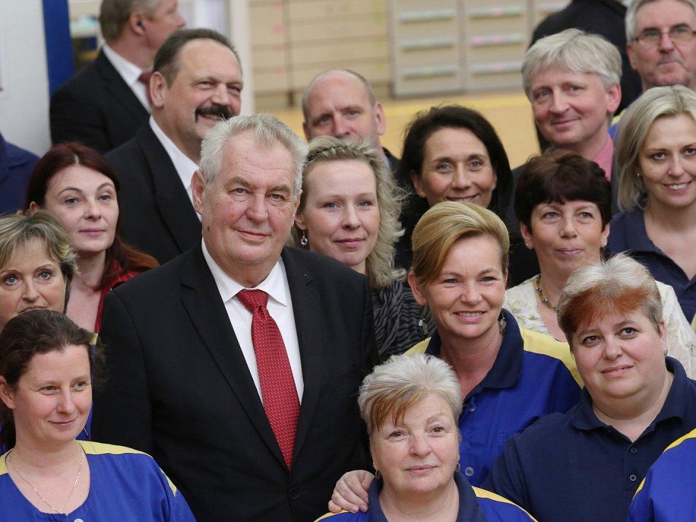 Prezident Miloš Zeman v České Mincovně