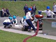 Sbor dobrovolných hasičů Zlatá Olešnice. A další požární útok.
