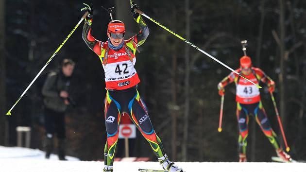 Supersprint na MČR dospělých v biatlonu. Na snímku Veronika Vítková.