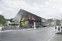 Tak vypadá jablonecký dopravní terminál na vítězných návrzích architektonické kanceláře DOMYJINAK architekti.