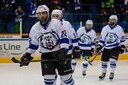 Zápas 40. kola 2. ligy ledního hokeje skupiny Západ se odehrálo 14. února na zimním stadionu v Jablonci nad Nisou. Utkaly se týmy HC Vlci Jablonec nad Nisou a HC Děčín. Na snímku je Lukáš Tondr.