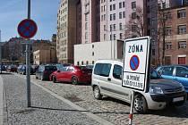 Parkování v místě tržnice