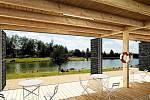 Severní břeh jablonecké přehrady na vítězném návrhu architekta Marka Přikryla a Martina Prokše z ateliéru Prokš Přikryl architekti.