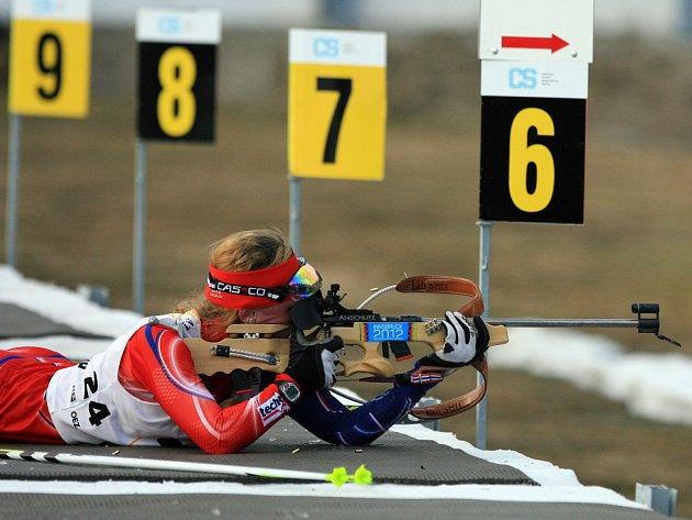 Mistrovství republiky v biatlonu. Na snímku Jessica Jislová.