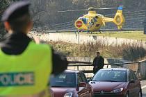 Sobotní dopravní nehoda tří vozidel na na sjezdu z dálnice na Rychnnov u Jablonce nad Nisou mezi Libercem a Hodkovicemi.