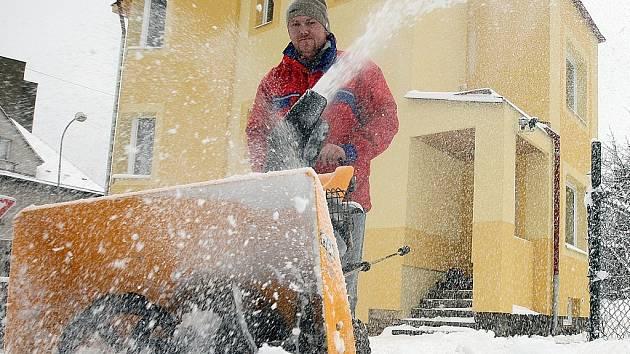 Sněžná fréza. Ilustrační snímek.