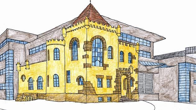 Neisseburg začleněný do haly spol. Malina-Safety. Návrh architekta Libora Sommera z roku 2008