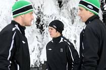 Fotbalisti FK Baumit Jablonec absolvovali v mrazivém pondělním dopoledni první trénink zimní přípravy na nadcházející jarní kolo Gambrinus ligy.