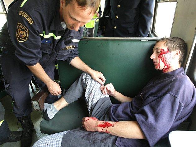 Podle scénáře došlo na tanvaldském nádraží k železničnímu neštěstí. Hasiči a pracovníci Českého červeného kříže se pod dohledem krajských záchrannářů se snažili klasifikovat raněné podle systému START (Snadné Třídění A Rychlá Terapie).
