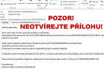 Podvodný email s virovou aplikací v příloze.