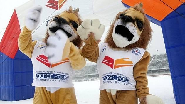 Oficiální maskot  - lev - Mistrovství světa v klasickém lyžování.