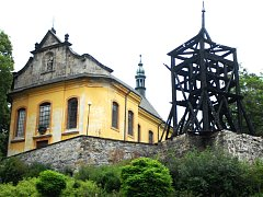 Vyhořelá zvonice v Železném Brodě