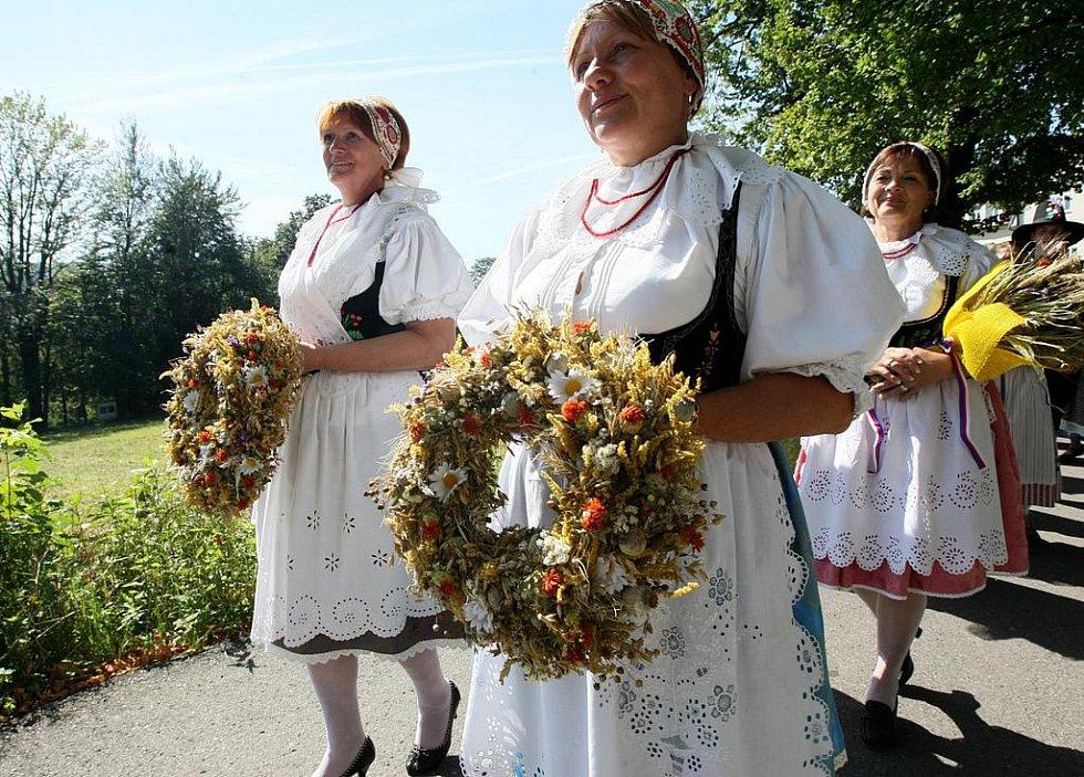 Deváté Krajské dožínkové slavnosti ve Smržovce.