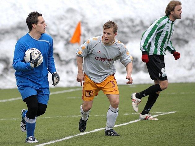 V pohárovém derby dvou okresních týmu vyhrál Pěnčín nad Hamry 3:0.