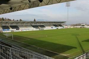 Fotbalový stadion v Jablonci nad Nisou.