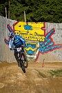 Kvalifikace závodu světové série horských kol ve fourcrossu, JBC 4X Revelations, proběhla 14. července v bikeparku v Jablonci nad Nisou. Finále se koná 15. července. Na snímku je Kevin Berginc.