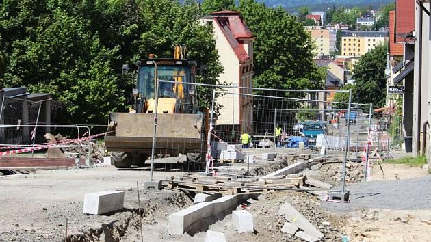 Stavba v jablonecké ulici V Aleji se posune o kus dál.