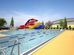 Venkovní bazén v Maškově zahradě v Turnově