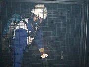 Sbor dobrovolných hasičů Lučany nad Nisou. Při školení v polygonu u profesionálních kolegů.